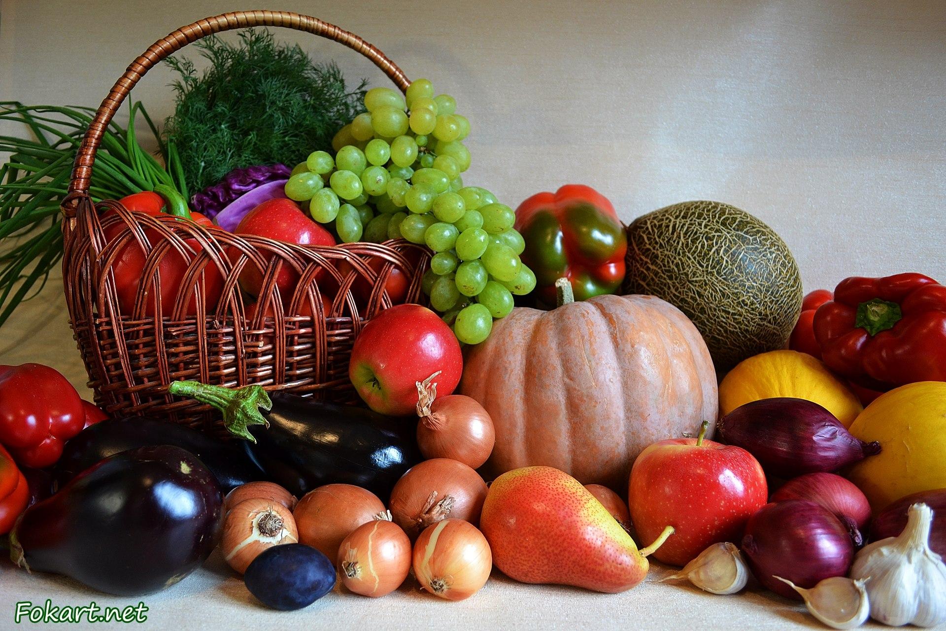 Тыква, дыня, перец, баклажаны, лук, виноград, зелень...
