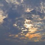 Летнее небо в тучах ранним вечером