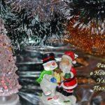 Новогодние фигурки - Дед Мороз и Снеговик, открытка